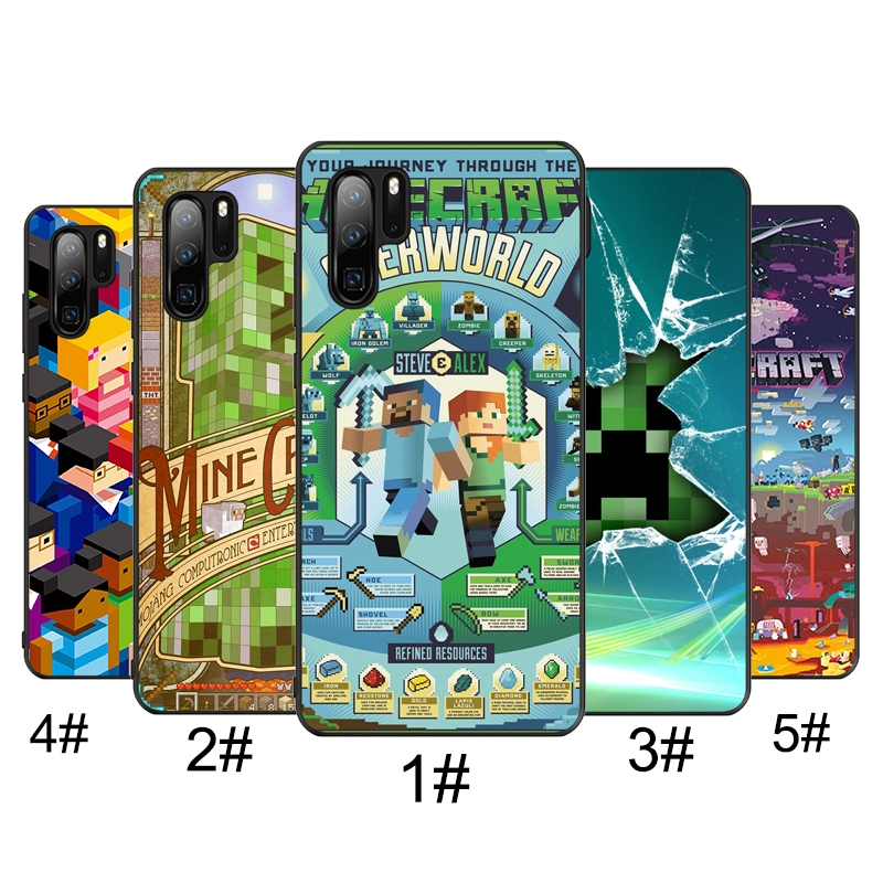 Huawei P20 30 Pro P9 P10 P20 P30 Lite Soft Cover Minecraft World game Phone Case