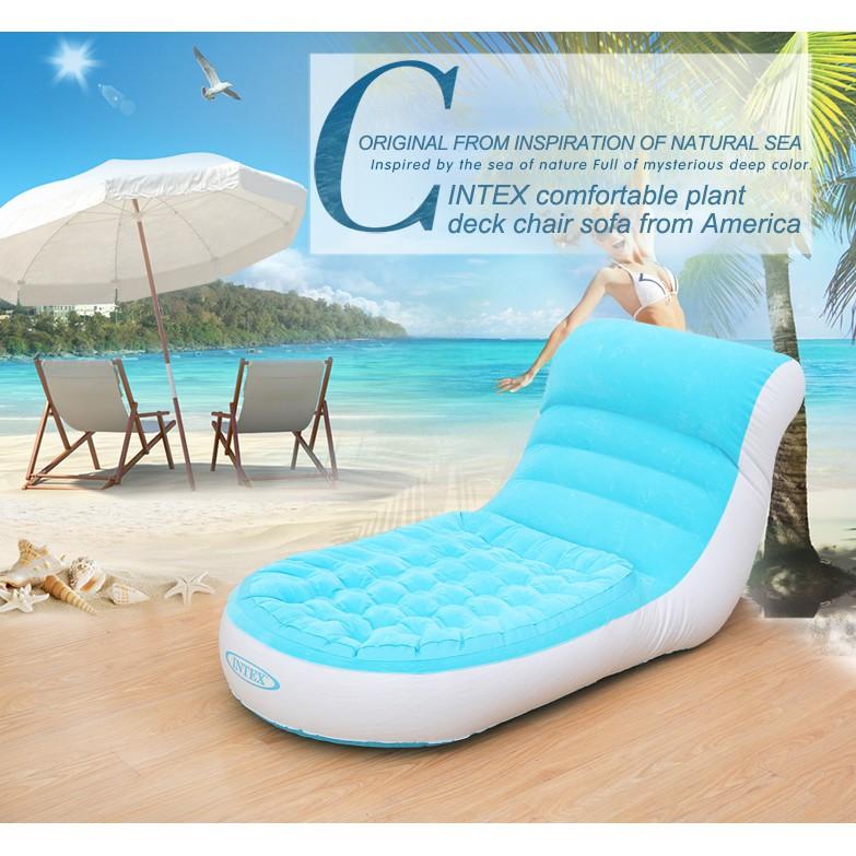 Intex 68880 Inflatable Sofa Flocking Single Sofa Backrest