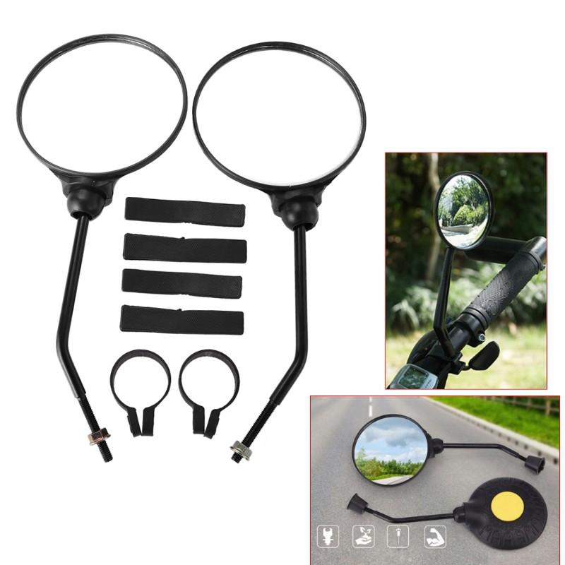 2x Mountain Bike Handlebar Rear View Mirror Rotate Racing Road Reflective motor