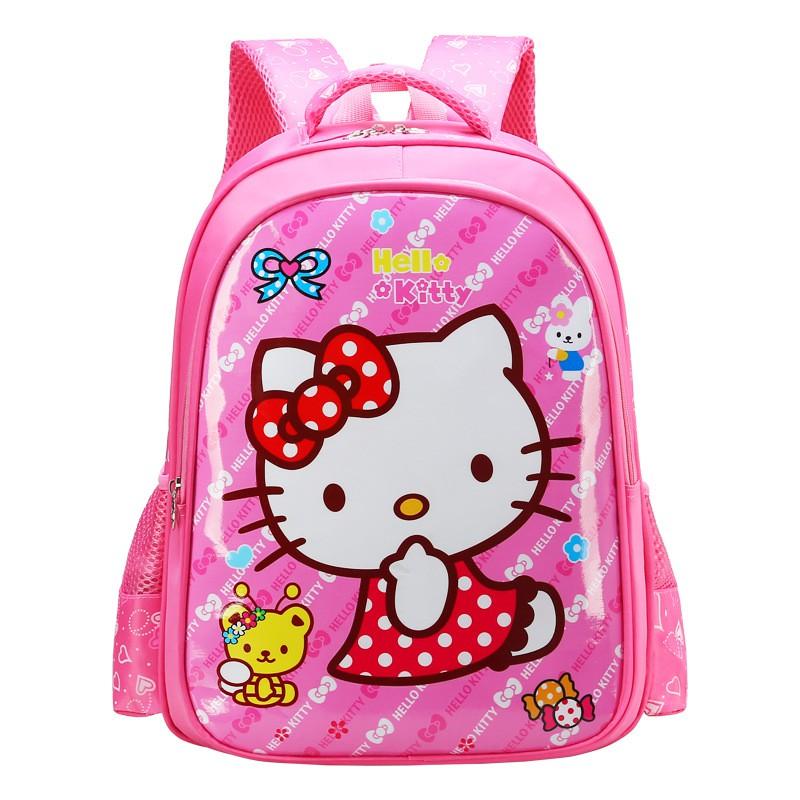 b44d026e5 Schoolboy bag anime cartoon Hello Kitty child boys and girls burden  backpack | Shopee Singapore