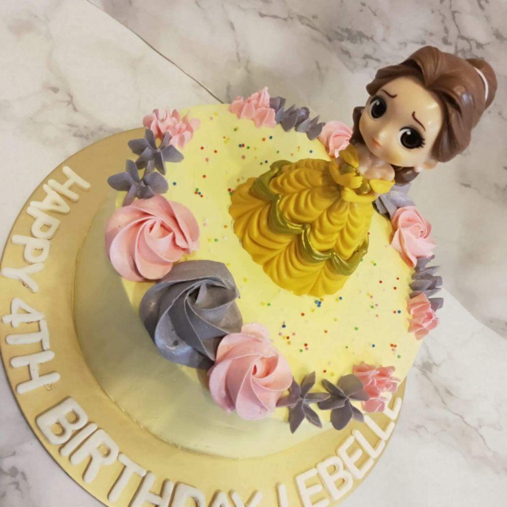 Pleasant Princess Belle Birthday Cake Shopee Singapore Birthday Cards Printable Trancafe Filternl