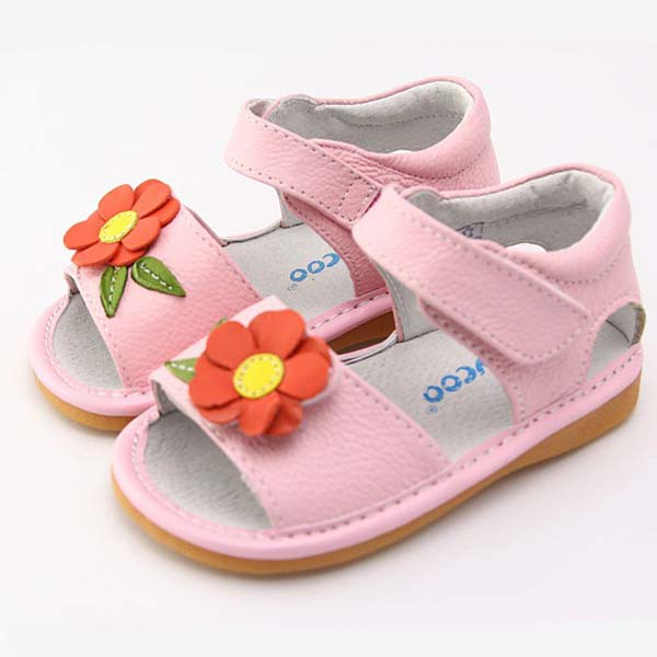 Freycoo - Pink Claire Squeaky Toddler Shoes