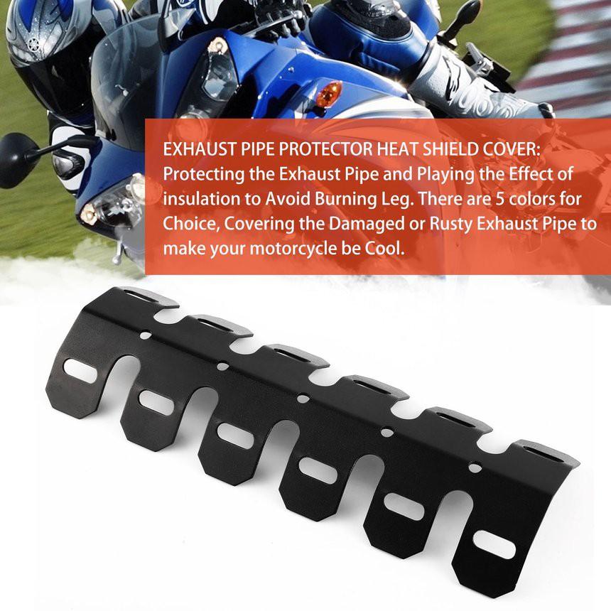 Automobiles & Motorcycles Motorcycle Universal 27-51mm Exhaust Muffler Pipe Leg Heat Shield Cover Heel Guard Protector Aluminum