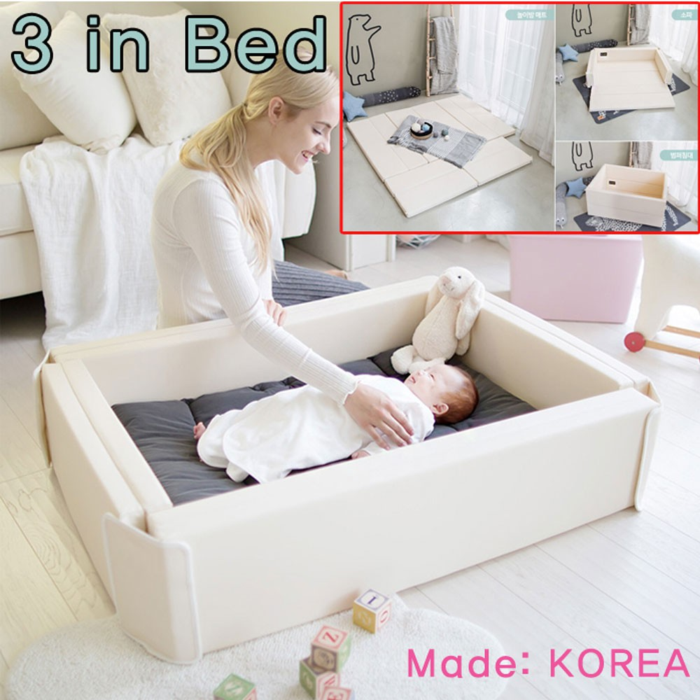 Ggumbi New Born Baby Bumper Bed 3 In 1 Sofa Mat Bed Authentic Made