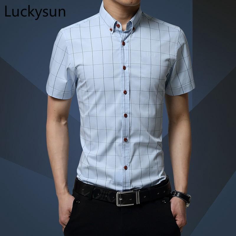 Domple Mens Plus Size Business Lapel Neck Printed Long Sleeve Button Up Dress Work Shirt