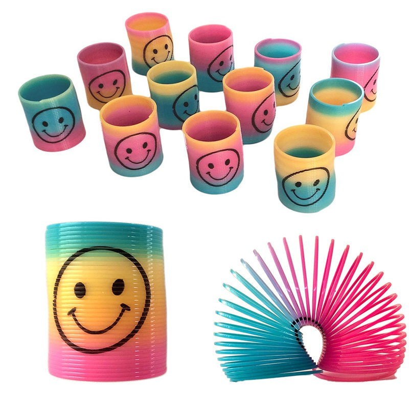 Toy Loot//Party Filler Childrens//Kids Gift 6 Happy Face Paper Handle Bags