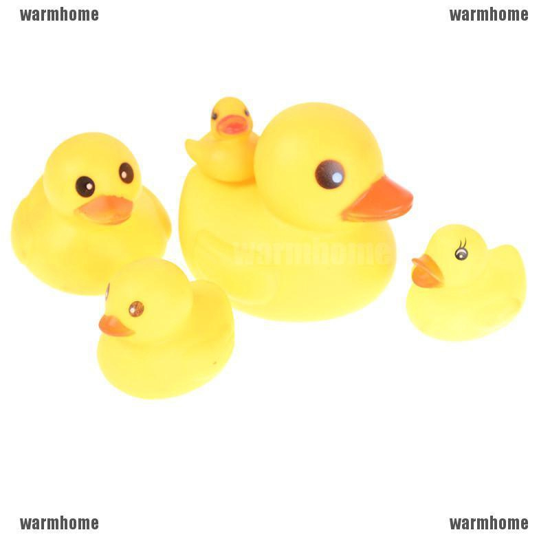 New 4PCS Baby Kid Children Yellow Duck Net Playing In The Water Bath Toys Set