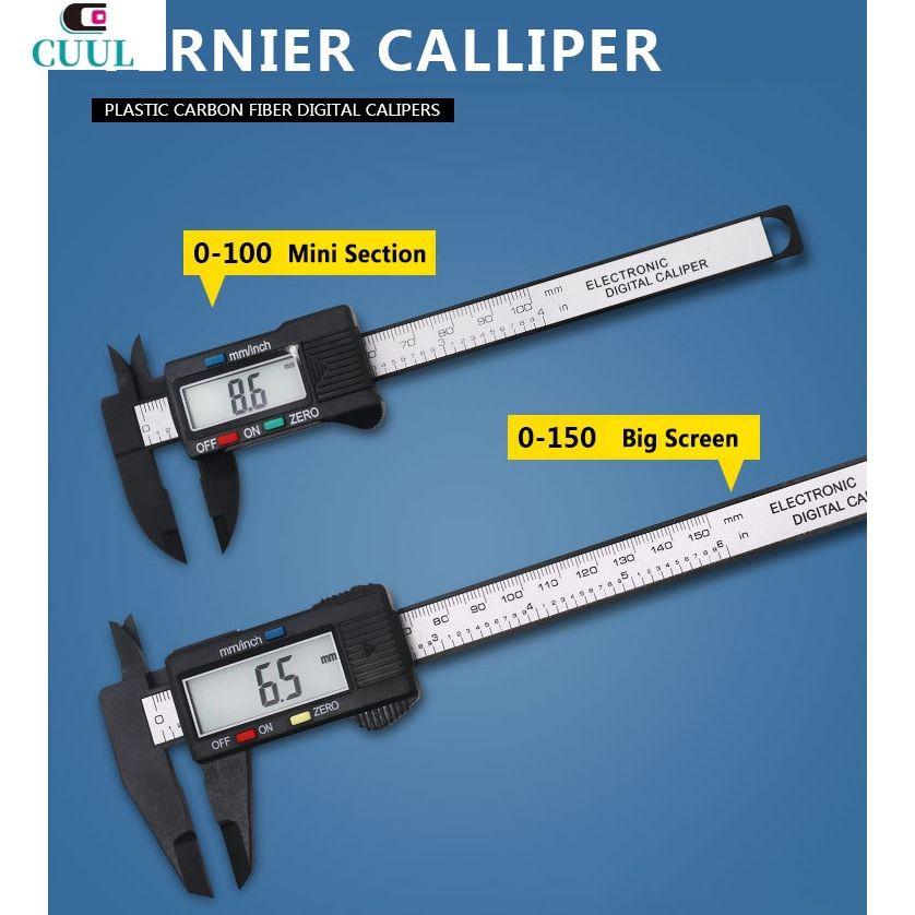 0-100mm Plastic Digital Display Electronic Caliper with Depth Measurement Tool