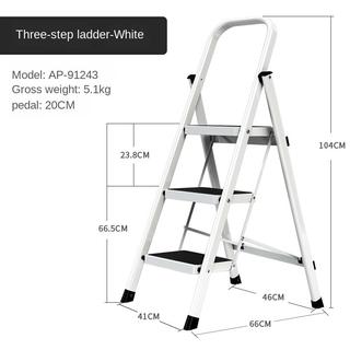 Aopeng Household Folding Herringbone Thickened Indoor Stairs Telescopic Small Step Ladder Multi Functional Escalator Stool Shopee Singapore