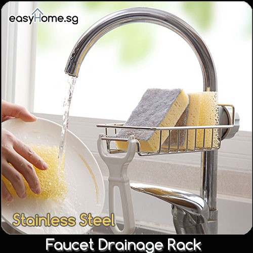 Image result for Faucet Drainage Rack- Stainless Steel Sink Tap shopee.sg