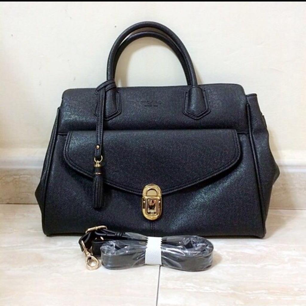 Picard Black Leather Ladies Handbag | Shopee Singapore