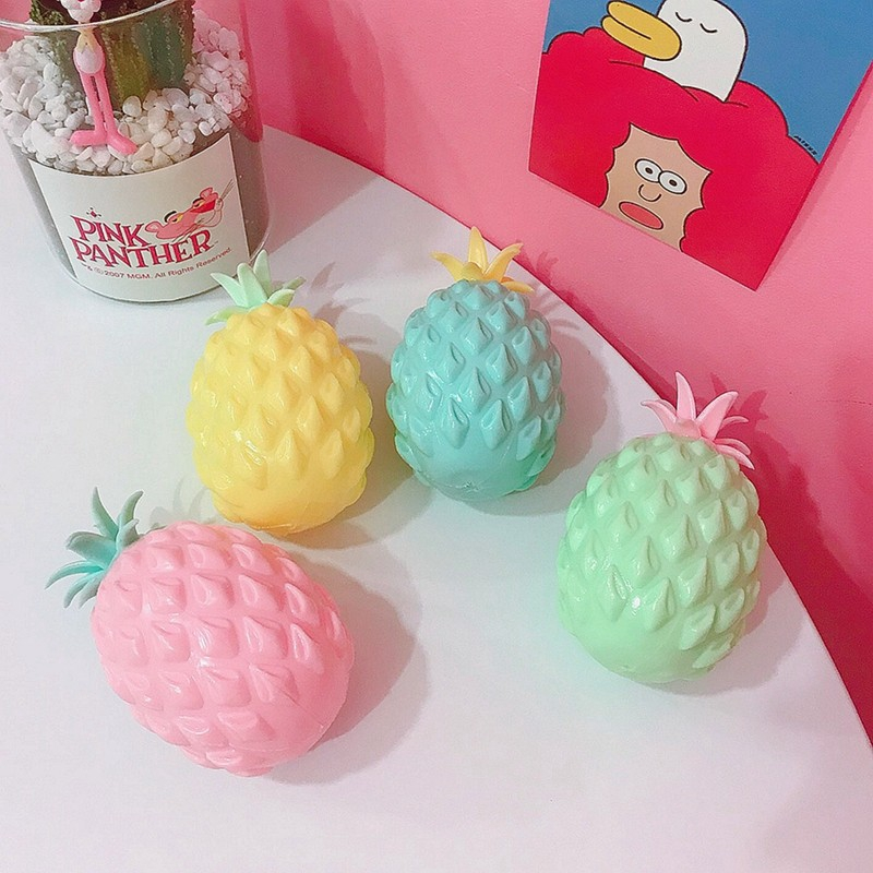 Anboor Squishies Jumbo Pineapple Slow Rising Kawaii Soft Giant Fruit Squishies Stress Relief Toy
