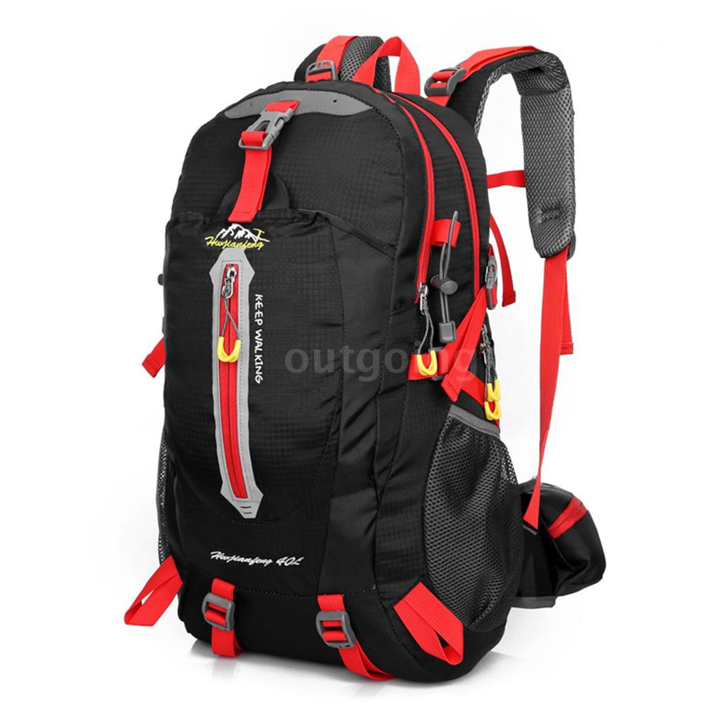f7291b5685bc 40L Water Resistant Travel Backpack Camp Hike Laptop Daypack Trekking Climb  Back