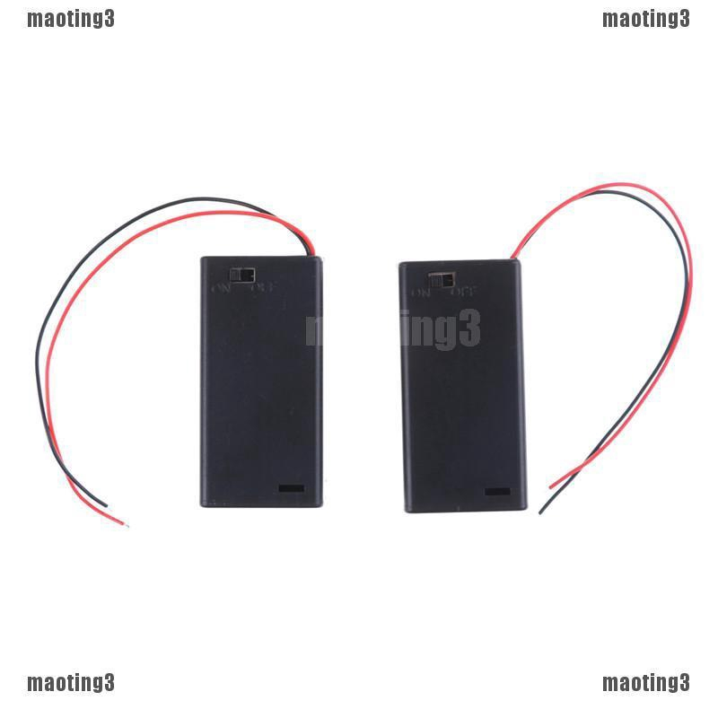2PCS 2A Battery Holder Box Case with ON//OFF Switch and Cover for 2AA battery NEW