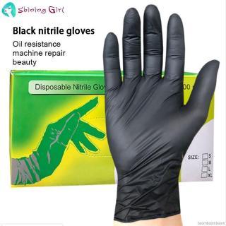 Tattooist tattoo mechanic Heavy Duty Black Nitrile Disposable Gloves AQL 1.5 100 GLOVES SIZE XXL