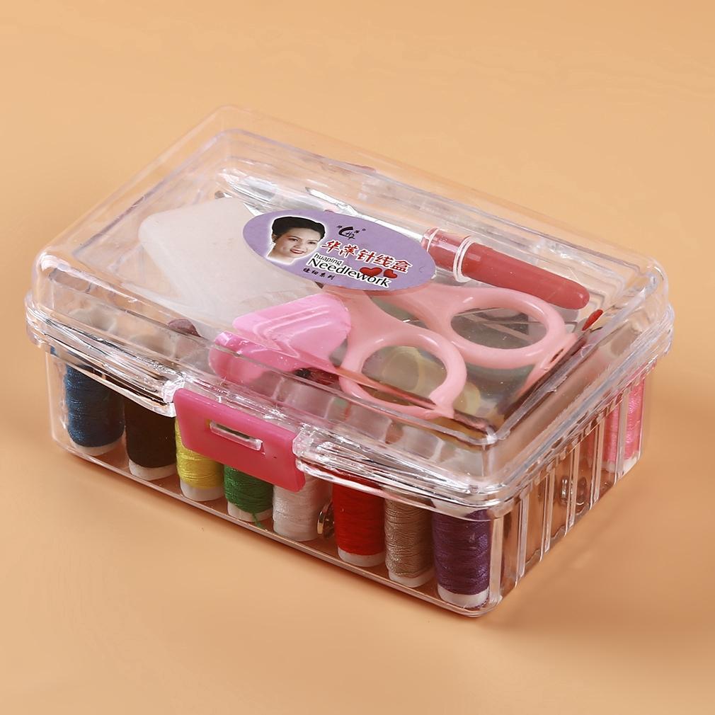 100Pcs Sewing Pack Kit Thread Needle Tape Measure Threader Thimble Portable 8C