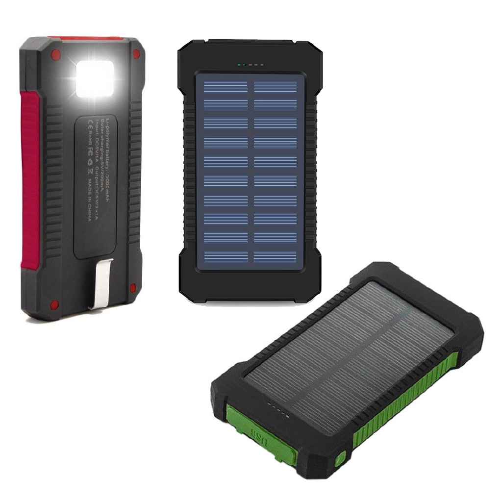 no Battery 2*706090 Solar Power Bank Case Portable External Battery Charger For Smart Phone Battery 2*606090 not Included
