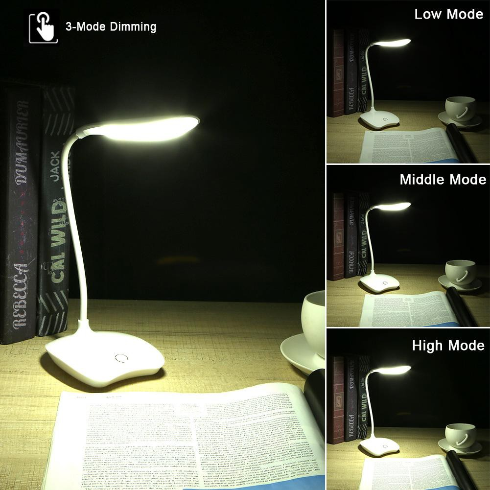 Led Lamps Precise Desk Lamp High Lumen Flicker-free 4 Leds Didoe Table Lamp Light Powered Dimmable Rotatable Eye Care Led Easy To Use