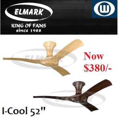 Elmark Ceiling Fan / I-cool 52 inch / With Remote Control