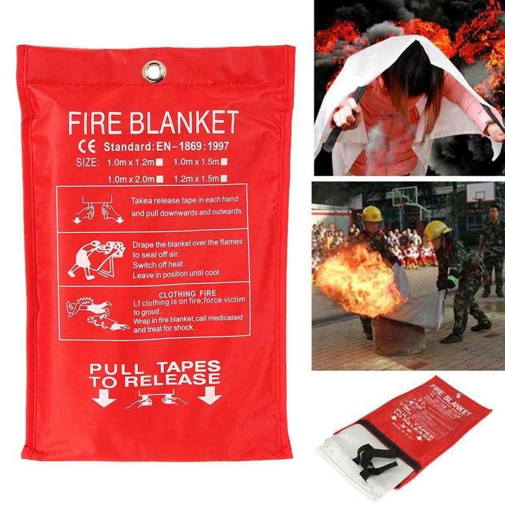 Fire Blanket 1m x 1m Fiberglass Fire Blanket Emergency Survival
