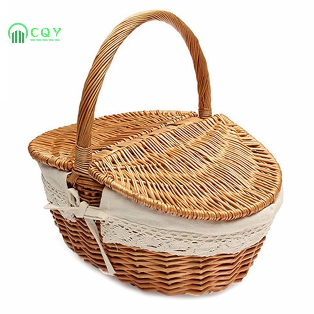 Ready Stock Wicker Basket Making English Picnic Basket ...