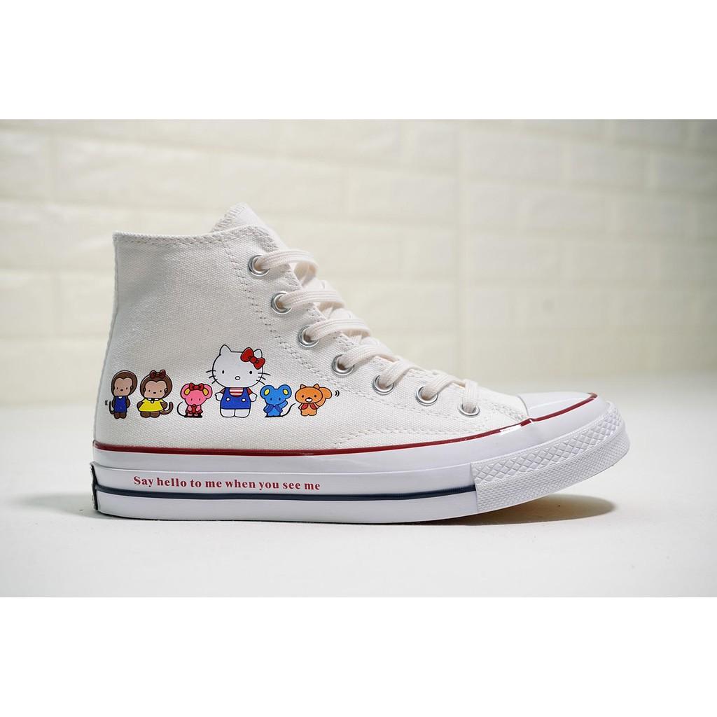 499940c97a7 Hello Kitty x Converse Chuck Taylor 1970 HI High canvas vulcanized shoes