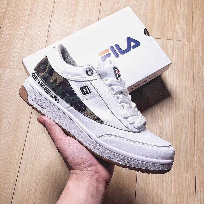 e20dd1c3ebe8 AAPE by A Bathing Ape x Fila Tennis  White