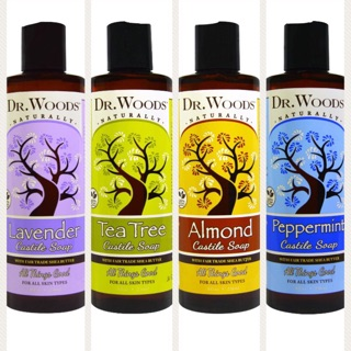 Dr  Woods Castile Soap with/without Fair Trade Shea Butter