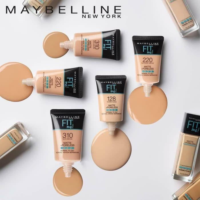 MAYBELLINE Fit Me Matte SMALL TUBE + Poreless Foundation TUBE 18 ml |  Shopee Singapore