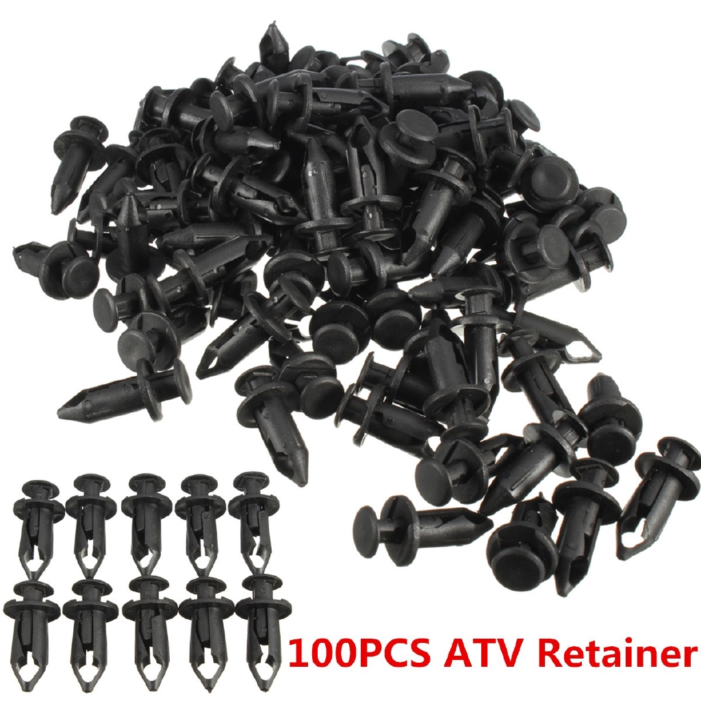 10Pcs 8mm Push Type Nylon Clip Fender Liner Retainer Fastener For Honda