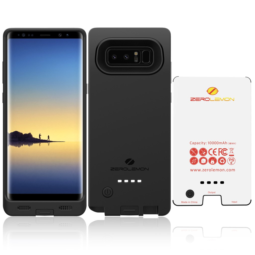free shipping 7d2c0 2f996 ZeroLemon 10000mAh Battery Case for Samsung Note 8