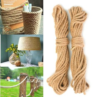 2PCS 10M Twisted Burlap Jute Twine Rope Thick Natural Hemp
