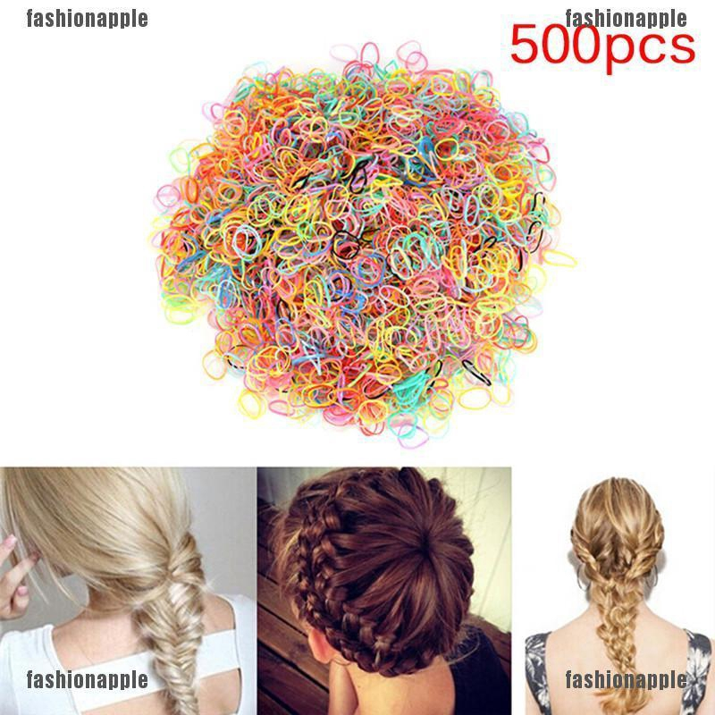 2pcs Women Elastic Rubber Hairband Phone Wire Hair Tie Rope Band  Ponytail Fad