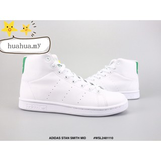 differently e5e11 39968 💕New style 💕 STAN SMITH MID White and green High-top shoes
