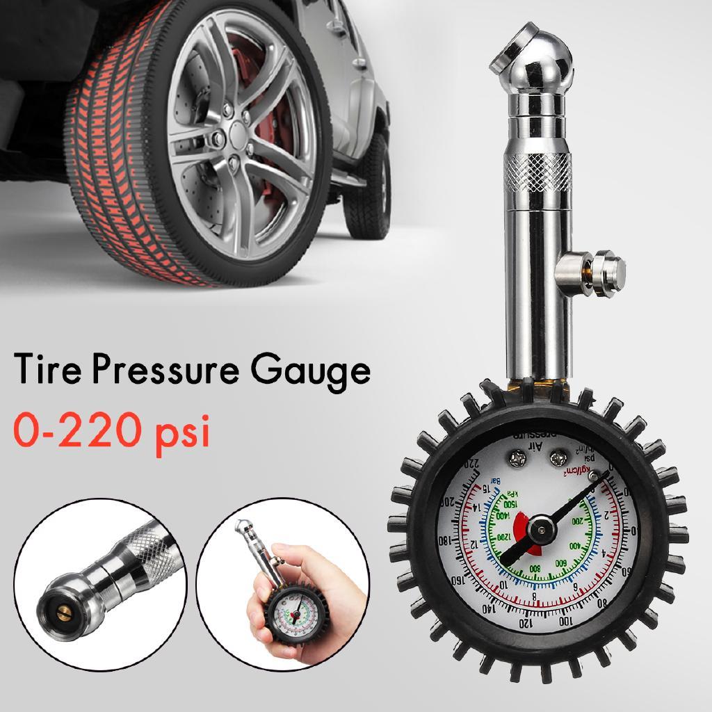 Car Vehicle Automobile Tire Tyre Air Pressure Gauge 0-220 psi Dial Meter Tester