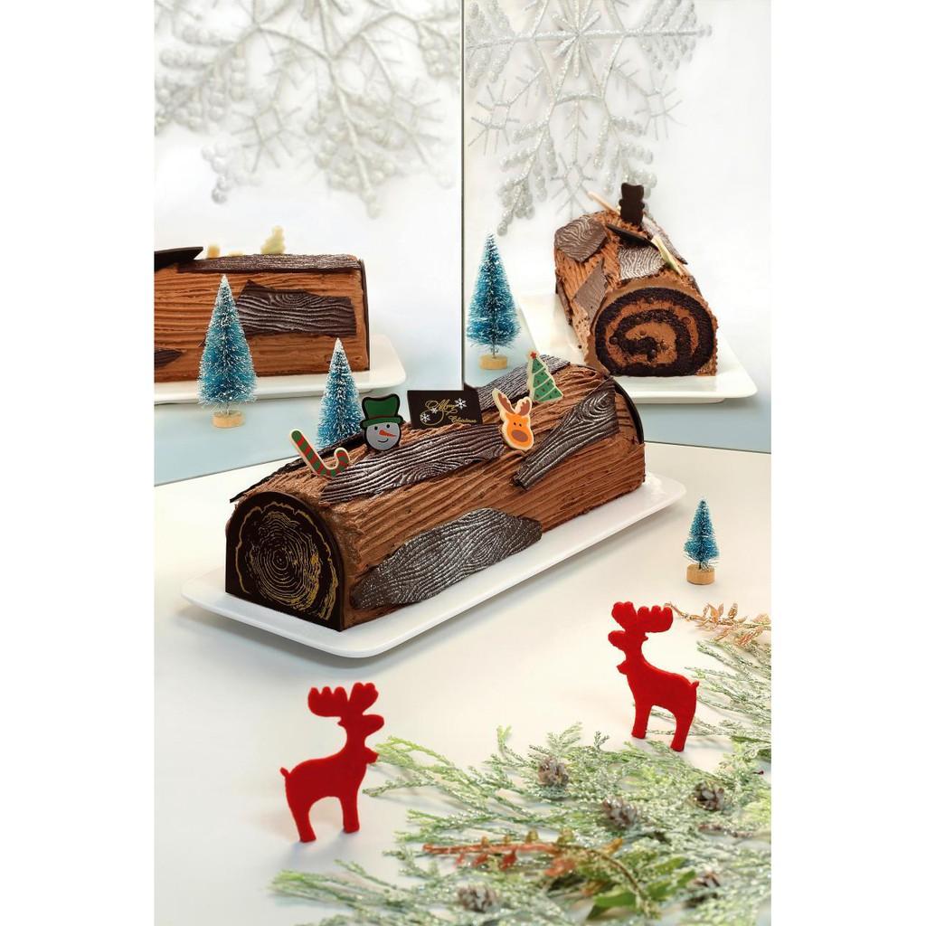 Chocolate Log Cake Christmas - 900g-1kg with free gift [Halal] | Shopee  Singapore