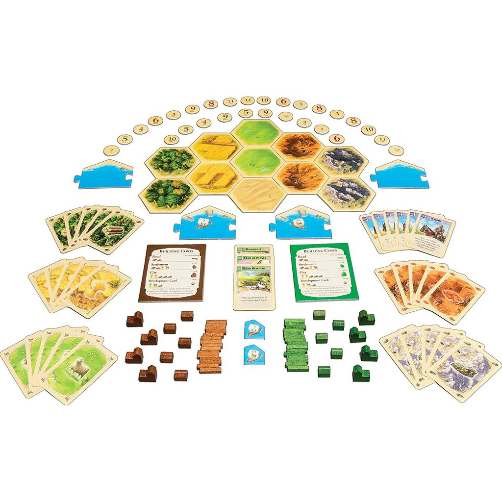 New Settlers of Caton Board Game 5th Edition 4 Player Party Home Game Child Gift
