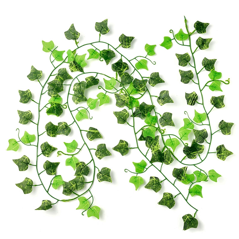 100M Artificial Leaf Vine Garland Plant Fake Foliage Flower Home Wedding Decor