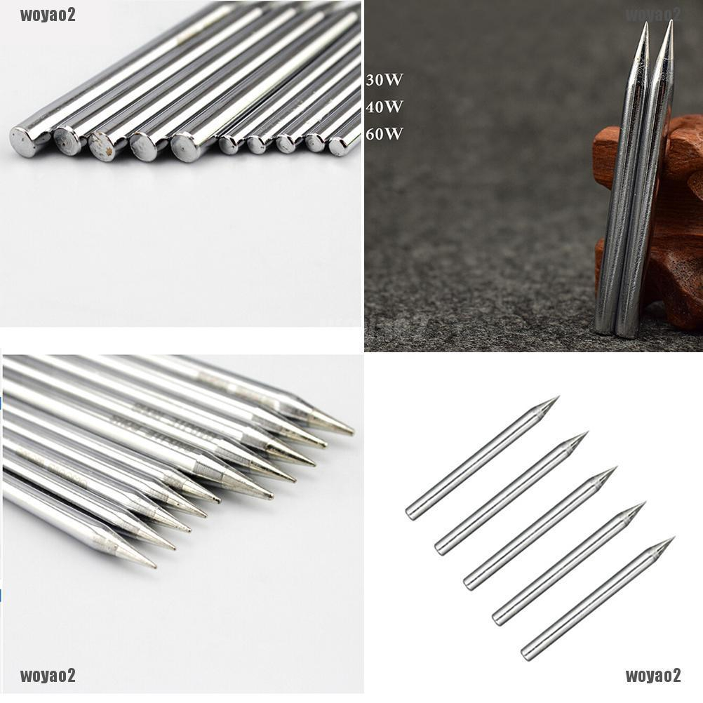 5 x Replaceable Iron Tool Solder Tips for Soldering Station 30W AD