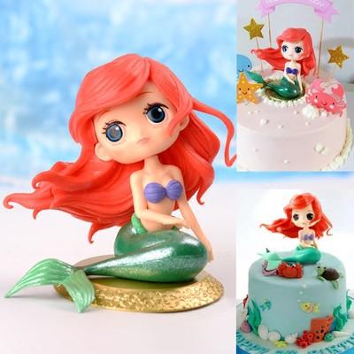 Pleasing Little Mermaid Princess Ariel Figurine For Cake Decorating Girls Personalised Birthday Cards Paralily Jamesorg