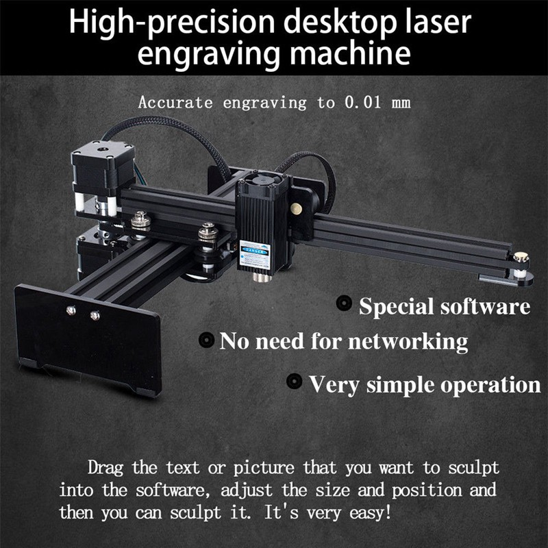 ღGB DIY 5W Desktop CNC Router Metal Laser Cutter USB Marking Machine  Engraver