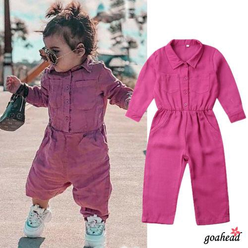 Kids Girls Pure Color Love Shape Overalls Ruffle Flare Suspender Pants