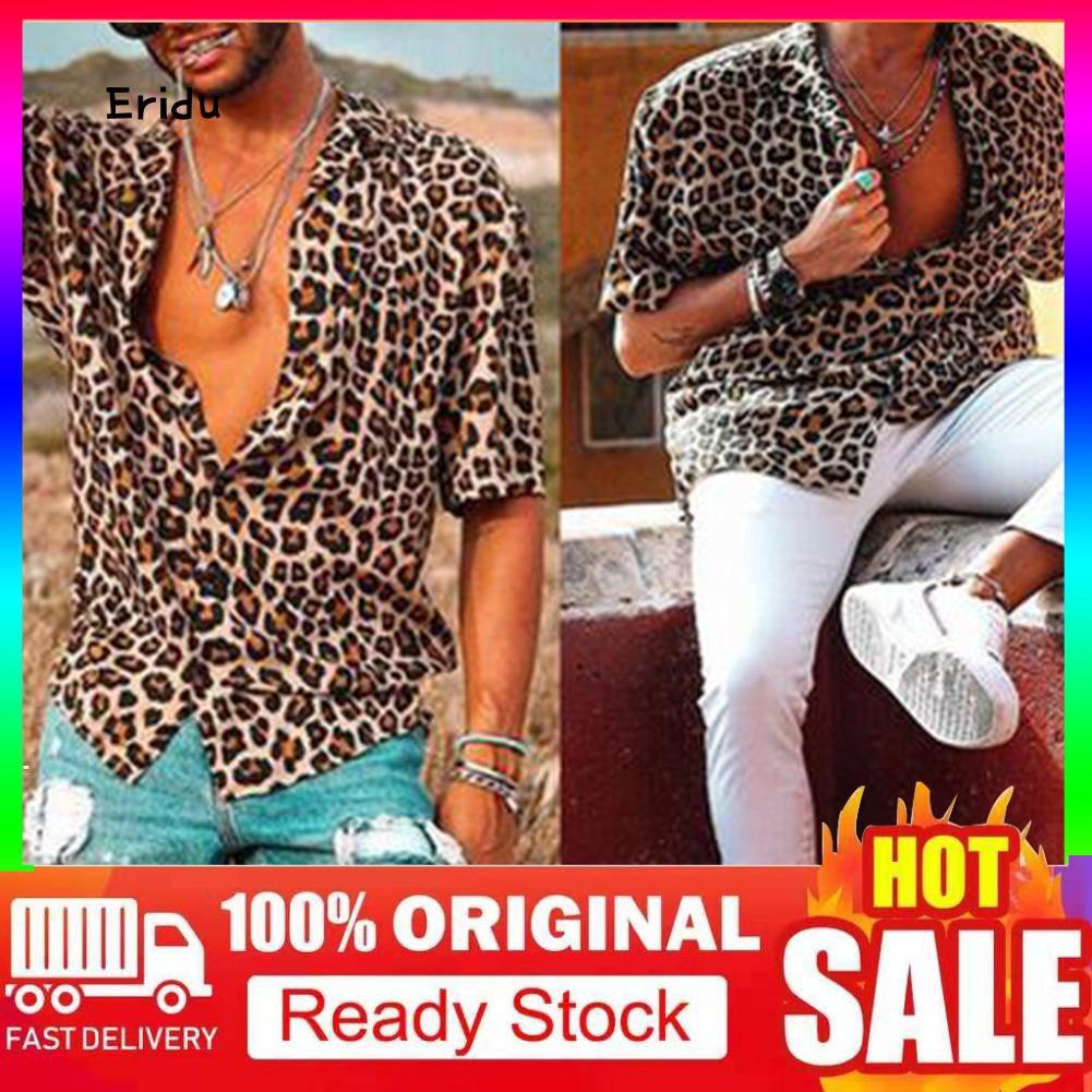 Men Ellesse Printed Classic Short Sleeve turn-down collar Cotton T-Shirt Tee Top