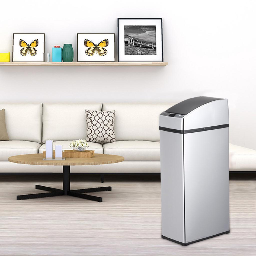 Sensor Automatic Trash Can Dustbin Touchless Waste Bin Stainless Steel Kitchen