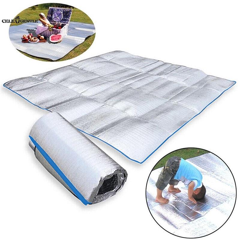 Camping Mat Silver Blanket Moisture Proof Waterproof Picnic Family Double-side