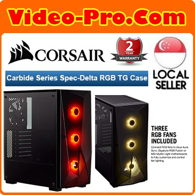 Corsair Carbide Series SPEC-DELTA RGB Tempered Glass Mid-Tower ATX Gaming  Case —