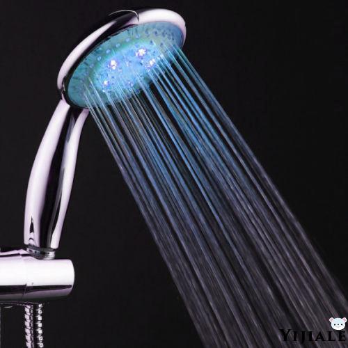 7Color LED Changing Light Bright Water Bath Home Bathroom Shower Head Glow NEW
