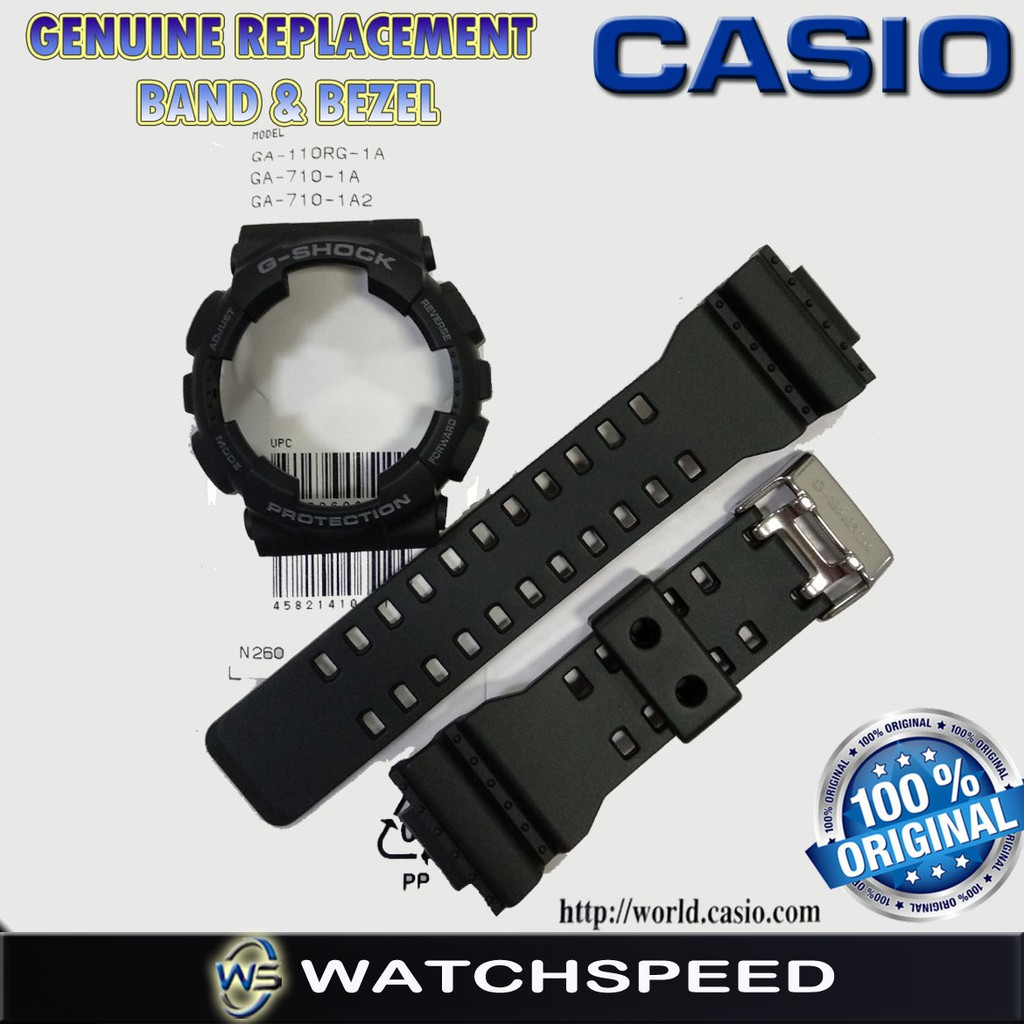 more photos 20ffe d2be8 Original Replacement Band and Bezel for CASIO G SHOCK for GA-110RG-1A  GA-710-1A