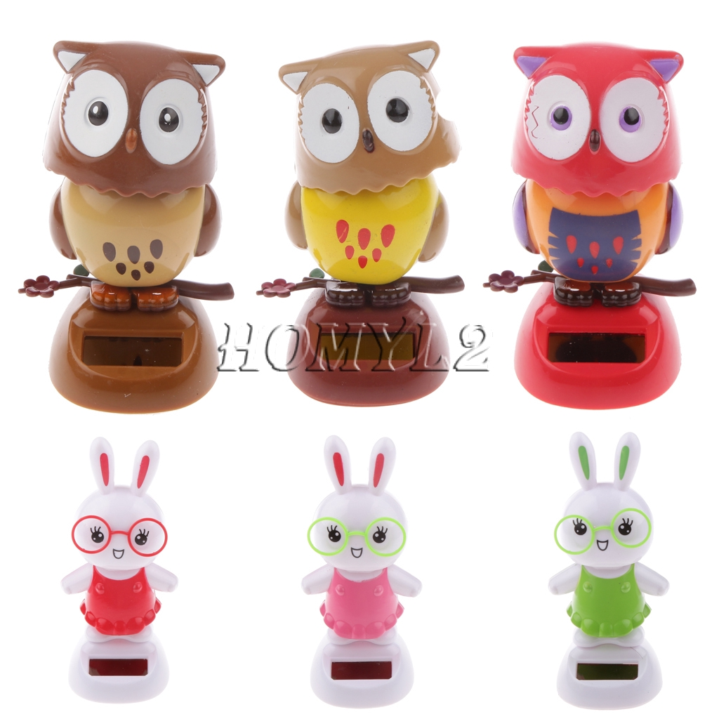 Red Solar Powered Dancing Owl Kids Bag Filler Favour Toy Lucky Dip Prizes