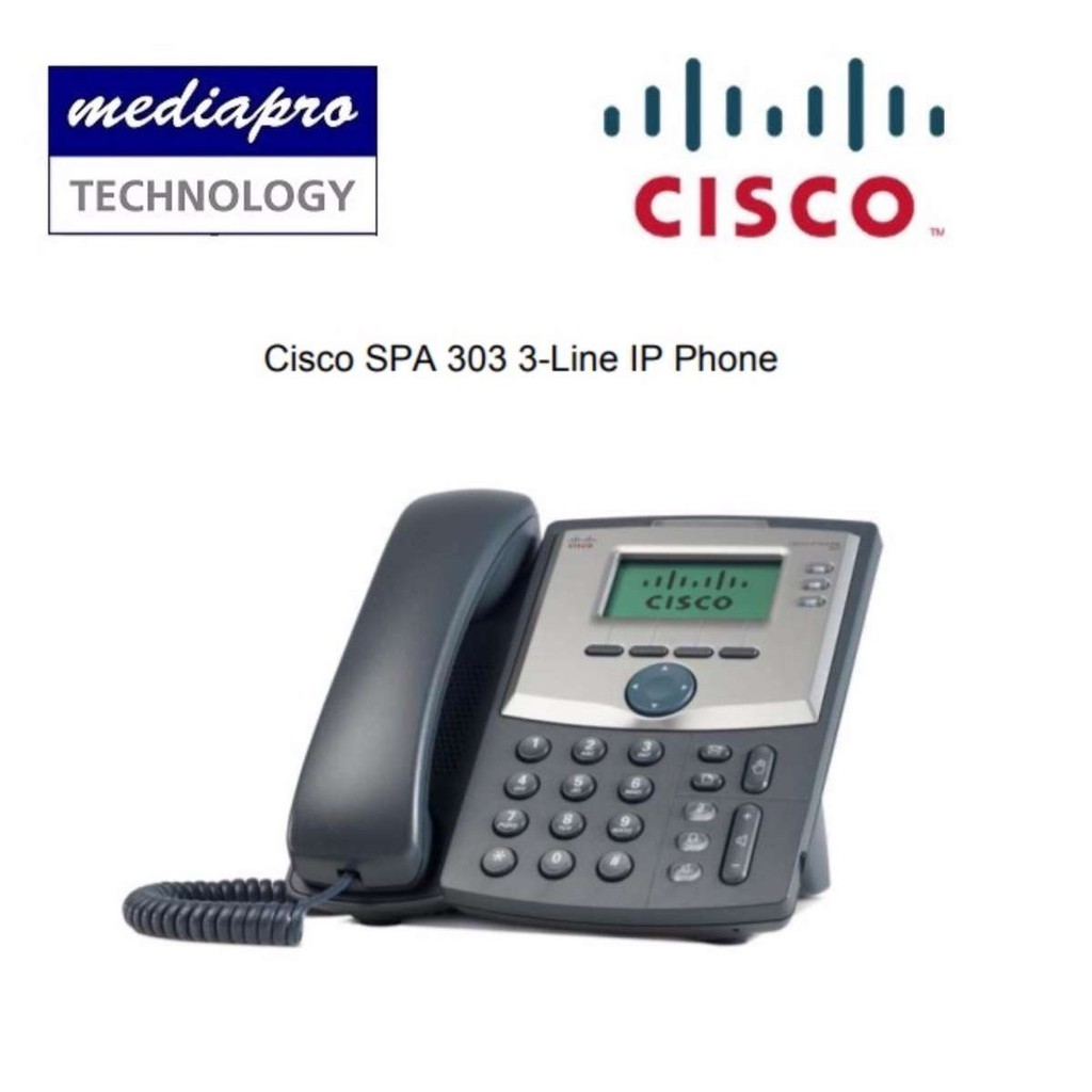 Cisco SPA 303 3-Line IP Phone for Business or Home Office ( SIP Phone )